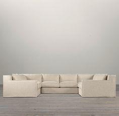 Capri Slipcovered U Sofa Sectional | | Restoration Hardware