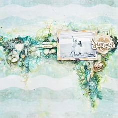 Layout by Tiffany Solorio using the St. Tropez collection and art mediums. #primaflowers #frankgarcia #mixedmedia #video