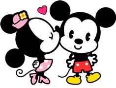 dibujos de mickey bebe con minnie