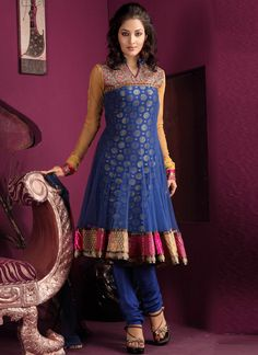 Outstanding net anarkali suit