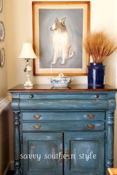 Savvy Southern Style | Soft Blue Chest at Savvy Southern Style