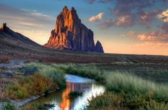 The Shiprock inselberg in New Mexico