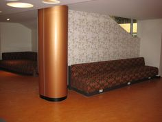 Curved Laminated Columns Reception Counter, Entry Foyer, Columns, Joinery, Commercial, Restaurant, Bed, Furniture, Home Decor