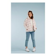 Checked Oversize Hooded Jacket-product