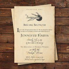 Harry Potter Bridal Shower Invitation Harry Potter Baby Shower