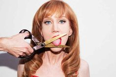 """Kathy Griffin, As Photographed By Tyler Shields."""" taken to the extreme. Famous Atheists, Tyler Shields, Top Male Models, Billy Crystal, Kathy Griffin, Artsy Photos, Hollywood Celebrities, Girl Humor, Kendall Jenner"""