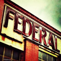 Vintage sign Federal