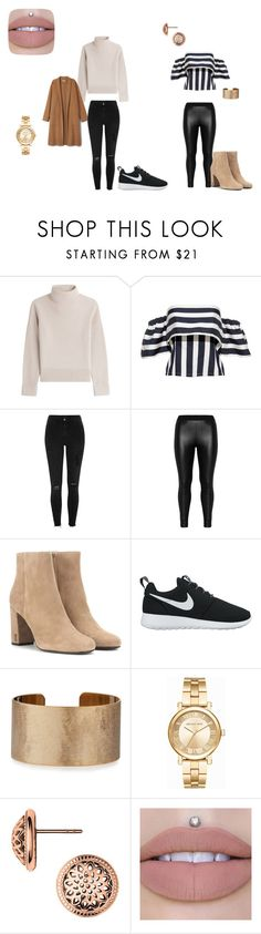"""classy"" by nickey-mouse on Polyvore featuring Vanessa Seward, River Island, Zizzi, Yves Saint Laurent, NIKE, Panacea and Michael Kors"