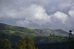 Between Storms I.  Stormy dark clouds linger over a green hillside in the spring in Orange County, CA.  The hills are lush with vegetation from all the rains. Click on the image to buy an art print or poster or canvas print.  30-day money back guarantee.