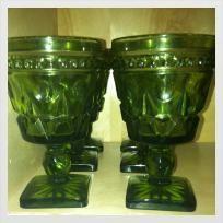 Vintage Colony Glass Indiana Glass Park Lane Pattern Vintage drinking goblets/wine glasses