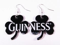 Recycled Guinness Can Shamrock Earrings  Next by beforethelandfill, $7.00