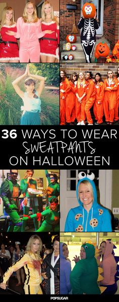 Halloween costume ideas that include sweatpants and sweatshirts