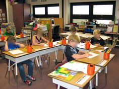 desk arrangements for 30 students | You can also see the pencil cups in action that I posted a picture of ...