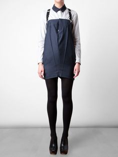 Playsuit with suspenders