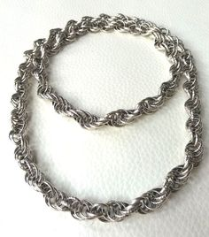 "Finland KALEVALA KORU Gorgeous Long Silver Plated Necklace - ""Setukaisten kääty"" in Jewelry & Watches, Vintage & Antique Jewelry, Vintage Ethnic/Regional/Tribal, Scandinavian Chain, Regional, Finland, Bracelets, Antique Jewelry, Scandinavian, Ethnic, Silver, Jewelry Watches"