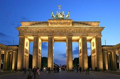 The Brandenburg Gate (German: Brandenburger Tor) is a former city gate, rebuilt in the late 18th century as a neoclassical triumphal arch, and now one of the most well-known landmarks of Germany.