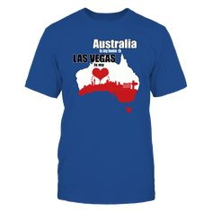 Australia is my Home - Las Vegas is my Heart T-Shirt, _Your source for custom Las Vegas gifts, souvenirs, tee shirts, hoodies and custom apparel. _ For the person who lives in Australia, but their heart is in Las Vegas. Inspired by the people who love Las Vegas all over the world. If you vacation in Las Vegas or call Las Vegas home then this... ,  Available Products:          Gildan Unisex T-Shirt - $24.95 Gildan Long-Sleeve T-Shirt - $32.95 Gildan Unisex Pullover Hoodie - $44.95 District…