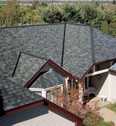 Dark Roof Tan Siding Certainteed Landmark Charcoal Black Shingle House Exterior Pinterest