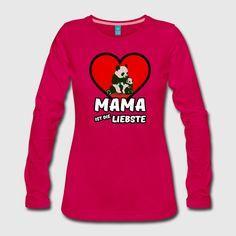 Mama ist die Liebste - Schöne Shirts und Geschenke für die liebsten Mütter - nicht nur zum Muttertag. Mit süßem Pandabären-Motiv! #mama #liebste #liebe #mutter #mütter #muttertag #mami #mutti #familie #kinder #eltern #auszeichnung #shirts #geschenke #weihnachten #geburtstag