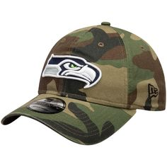 474b1cb7095e2 Men s Seattle Seahawks New Era Woodland Camo Primary Logo Core Classic  9TWENTY Adjustable Hat