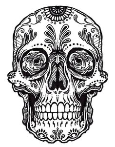 Coloring pages... Mexican Skulls Drawings Sugar skull drawings ...
