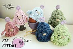 Crochet Gifts, Crochet Yarn, Free Crochet, Easter Crochet Patterns, Knitting Patterns, Knitted Animals, Loom Knitting, Easter Crafts, Handmade