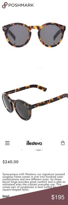 Illesteva Leonard Tortoise Sunglasses Made in Italy. Info and pictures coming🌟 Illesteva Accessories Sunglasses