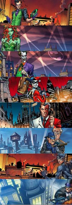 Riddler Poison Ivy Joker Harley Quin Due Facce Scarface Catwoman Pinguino Catwoman, Batgirl, Marvel Dc Comics, Anime Comics, Comic Villains, Batman Family, Joker And Harley Quinn, Detective Comics, Marvel Vs