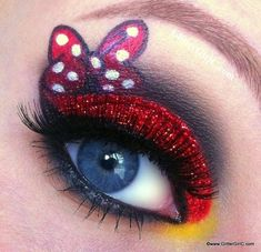 Minnie Mouse eyes! So cool for Halloween!