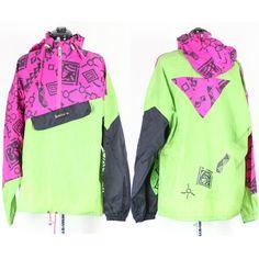 Vintage Retro Neon Adidas Windbreaker Jacket  by VintageWestCoast 781d049c5a0e