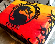 Mortal Kombat themed birthday cake