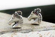 Horse Charms 19x16mm Antique Silver Tone Metal 3D Large Horse