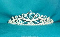 Crystal Tiara in Turquoise[01-2-268-T]