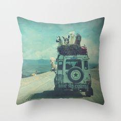 Alpaca Wanderlust Ii Summer Edition Throw Pillow by Monika Strigel - Cover x with pillow insert - Indoor Pillow Throw Cushions, Throw Pillow Cases, Couch Pillows, Down Pillows, Pillow Covers, Accessoires Camping Car, Mermaid Pillow, Cotton Linen, Pillow Inserts