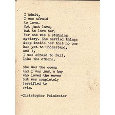 """<3 """"Their tears were their love"""" series poem #46, by Christopher Poindexter."""
