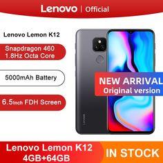 Original Official Lenovo Lemon K12 Mobile Phone 4 GB 64 GB 6.5'' Snapdragon 460 Octa-core 5000mAh 48MP Android 10 Smartphone Tags: Lenovo legion, Lenovo phone, Lenovo mobile, Lenovo z6 pro, Lenovo k6, Celular Lenovo, Lenovo k5, portatil Lenovo, Lenovo Lemon K12