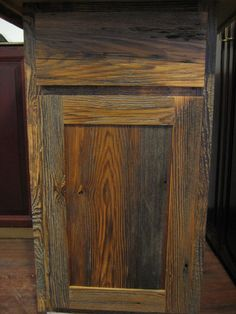 rustic barnwood wall cabinet | Barnwood Kitchen Cabinets - Benedict Antique Lumber and Stone
