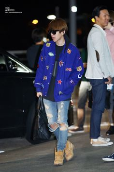 141028- EXO Byun Baekhyun; Incheon to LAX to Mexico Airport #exok #fashion…