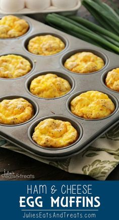 Ham & Cheese Egg Muffins Quick Easy and Delicious Breakfast or Snack! Fluffy Egg Muffins with Ham & Cheese! Looking for back to school recipes this Ham & Cheese Egg Muffins is a perfect grab and go recipe! Muffin Recipes, Brunch Recipes, Brunch Appetizers, Brunch Drinks, Delicious Appetizers, Brunch Food, Brunch Menu, Sunday Brunch, Dinner Recipes