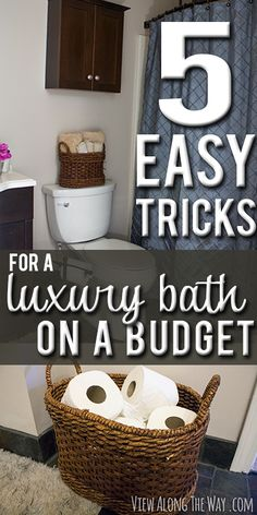 Make your guest bathroom feel luxurious for guests with a few simple steps! http://www.viewalongtheway.com/2013/10/5-easy-steps-luxury-guest-bathroom-budget-giveaway/ #bathroom