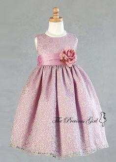 100 best flower girl dress rosette accents images on pinterest dusty rose flower girl dress mightylinksfo