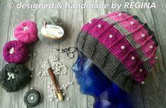 Beanies, Knitted Hats, Winter Hats, Knitting, Handmade, Design, Fashion, Moda, Hand Made