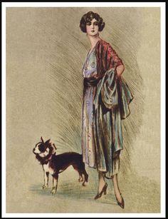 Boston Terrier Glamorous Lady and Dog Lovely Vintage Style Dog Print Poster | eBay