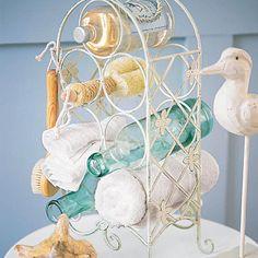 repurpose a wine rack.  :)
