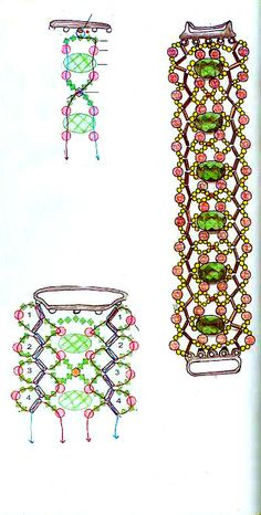 Beaded Bracelet Patterns | Free pattern schema for bracelet Wave | Beads Magic