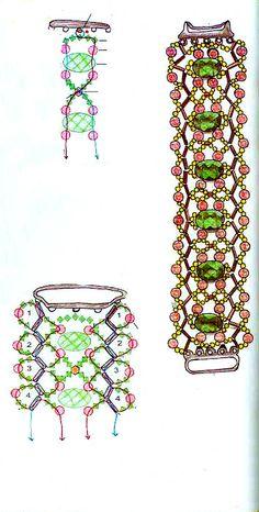 Beaded Bracelet Patterns | Free pattern schema for bracelet Wave | Beads Magic