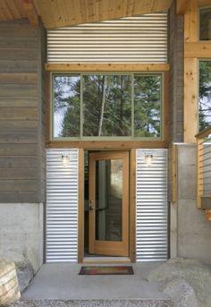 Wintergreen Cabin, by Balance Associates Architects. Wintergreen Cabin, by Balance Associates Architects. Design Exterior, Exterior Siding, Garage Design, Cabin Design, House Design, Metal Siding, House Siding, Cladding, House Colors