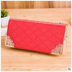 Elvasek free shipping! fashion women wallet credit card holders women leather purses female wallets women purse bags LS6874