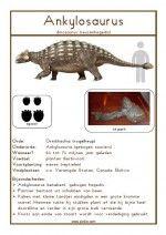 Natuurkaart Dinosauriërs – Ankylosaurus
