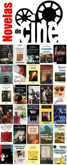 """NOVELAS... ¡DE CINE!  Febrero 2014. Una """"mirilla"""" de la Biblioteca Municipal de Móstoles. http://bibliotecademostoles.wordpress.com/"""